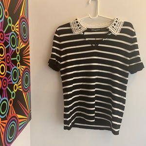 Karl Lagerfeld Paris striped top, size S